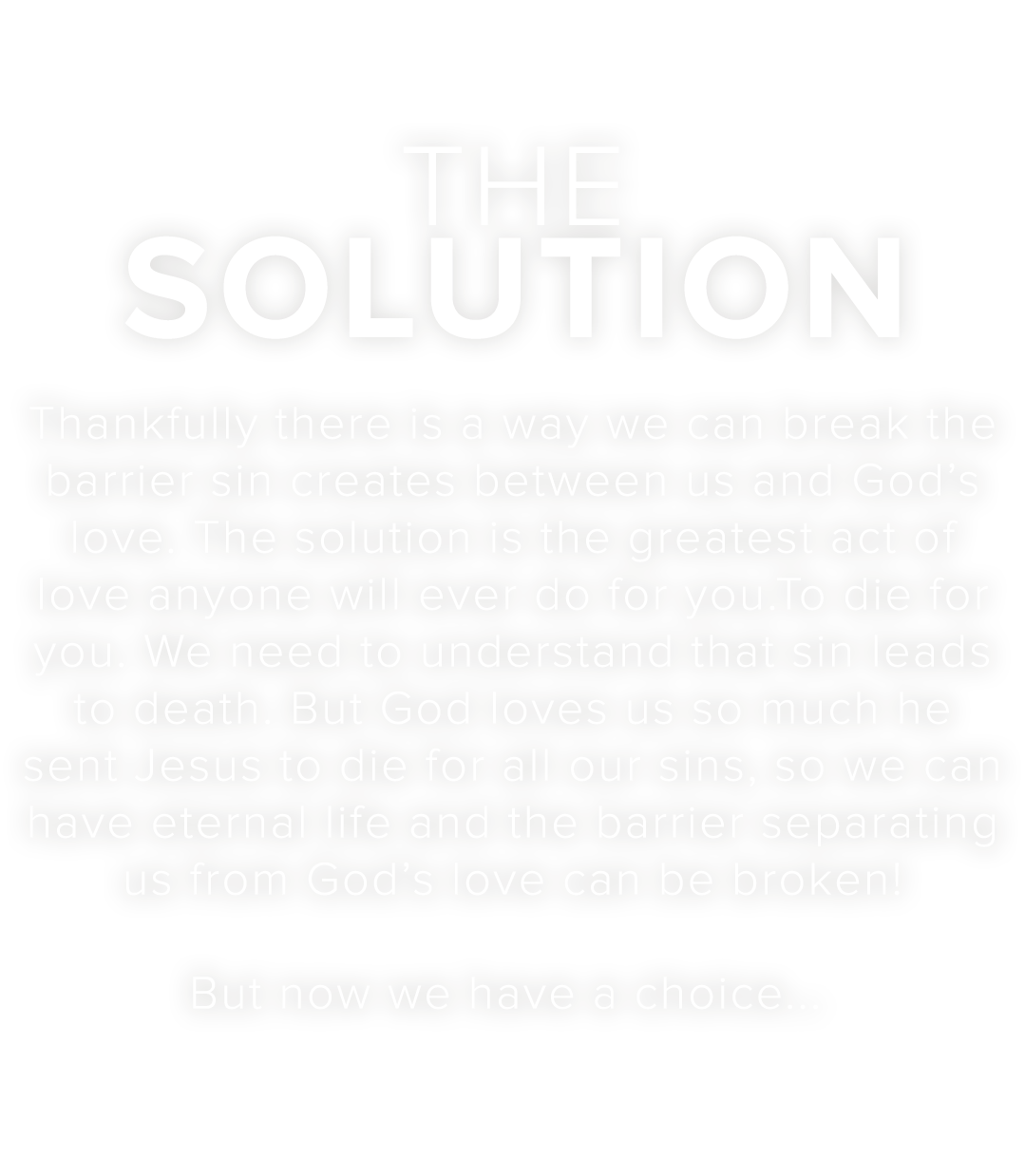 The Story Of Love – The Solution