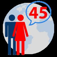 45 Languages