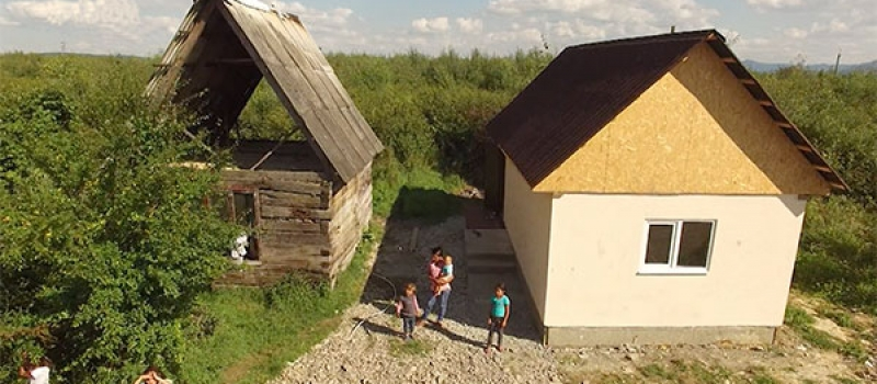 Orphan's Promise Ukraine builds Myroslava a new house.