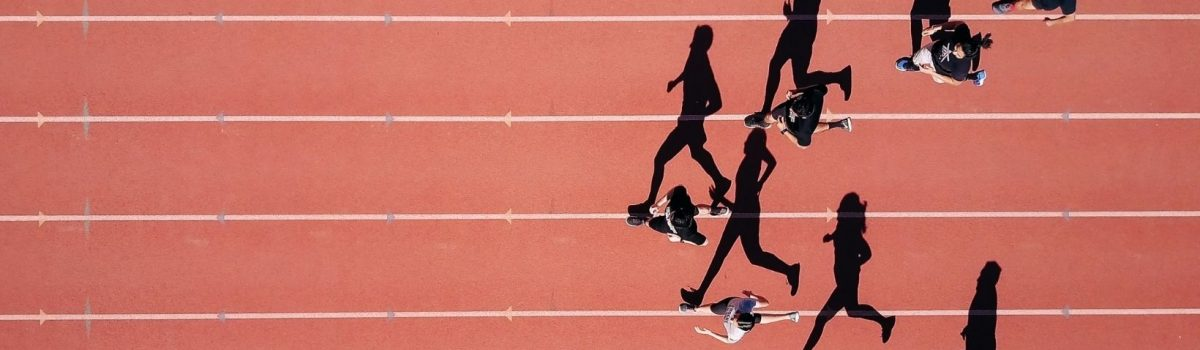 Remain focused. Stay in lane. Run your race.